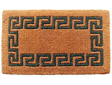 Green Greek 18x30 Doormat, , large