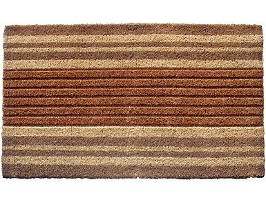 Natural Striped 30x48 Doormat, , large