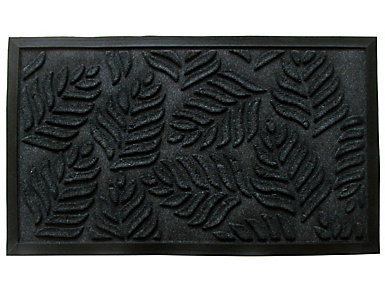 Leaves 18x30 Rubber Doormat, , large
