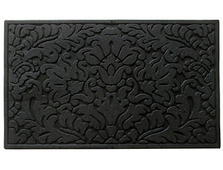 Rubber Scroll 18x30 Doormat, , large