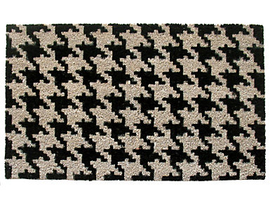 Houndstooth 18x30 Doormat, , large