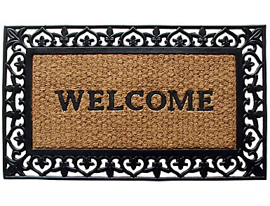 Welcome Scroll 24x39 Doormat, , large