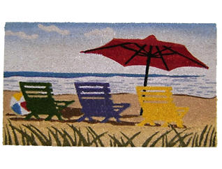 Beach Umbrella 18x30 Doormat, , large