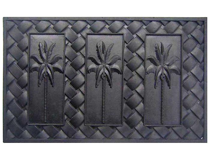 Palm 18x30 Rubber Doormat, , large