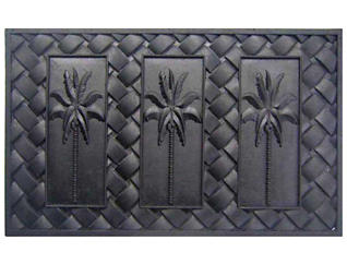 Palm 18x30 Rubber Doormat, , large