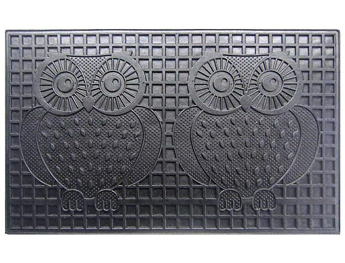 Owls 18x30 Rubber Doormat, , large
