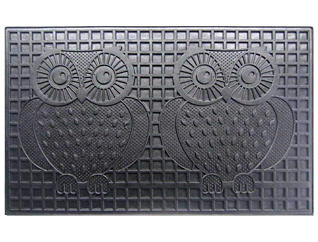 Owls 18x30 Rubber Doormat, , large