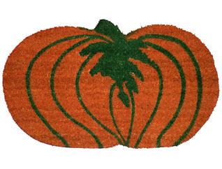Pumpkin Shaped 18x30 Doormat, , large