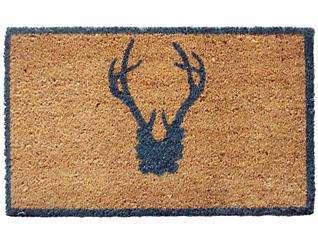 Antler Blue 18x30 Door Mat, , large