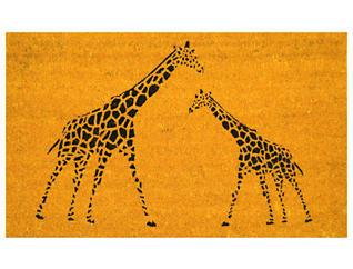 Giraffe 18x30 Doormat, , large