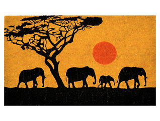 Elephants 18x30 Doormat, , large