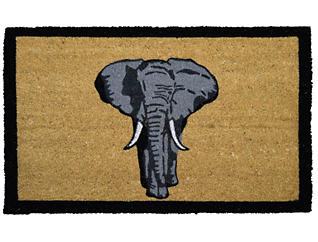 Elephant 18x30 Doormat, , large