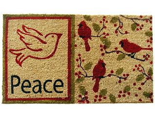 Peace Dove 18x30 Doormat, , large