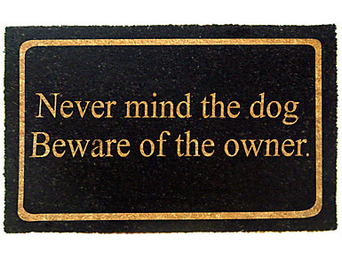 Never Mind Dog 18x30 Doormat, , large