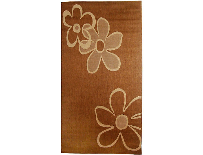 Daisies 8x11 Outdoor Rug, , large