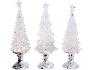 Spinning Lighted Tree with Timer, , large