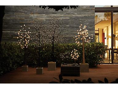 6'Cotton Blossom LED Tree, , large