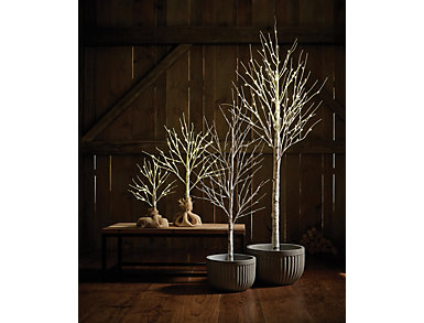 2  Birch B/O LED Tree, , large