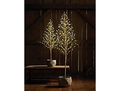 6  Crackle Ball I/O LED Tree, , large