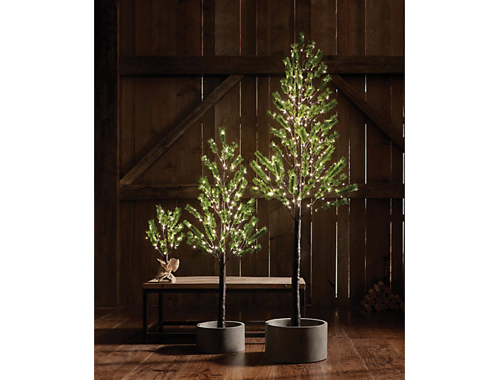 7  Norway Pine In/Out LED Tree, , large