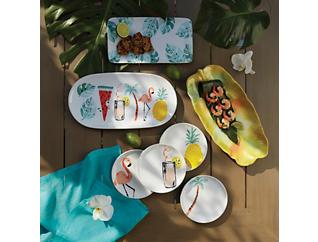 Summer Stoneware Rect Platter, , large