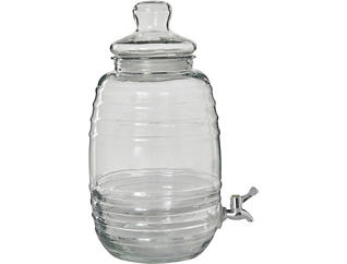 Lidded Glass Bev Dispenser, , large