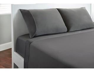 Dri-Tec Sheet Set, Twin X-Long-Grey, , large
