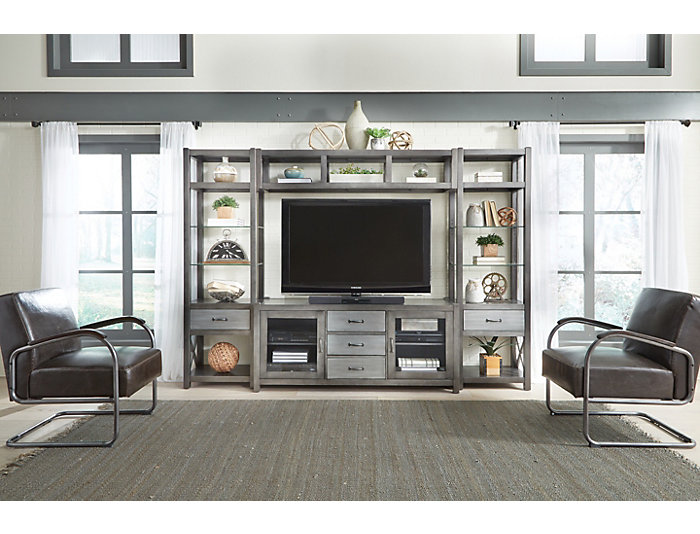 """Alumina 66"""" Deep Charcoal TV Stand, , large"""
