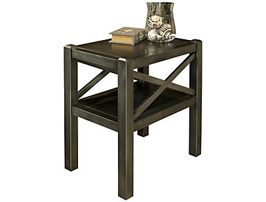 Alumina Deep Charcoal Chairside Table, , large