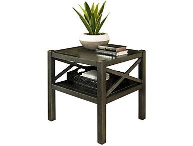 Alumina Deep Charcoal Rectangular End Table, , large