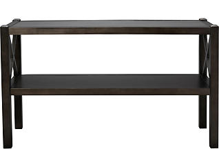 Alumina Deep Charcoal Sofa Table, , large