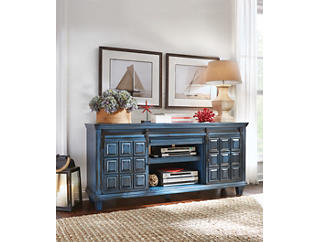 "Antigua 72"" Blue TV Stand, Blue, large"