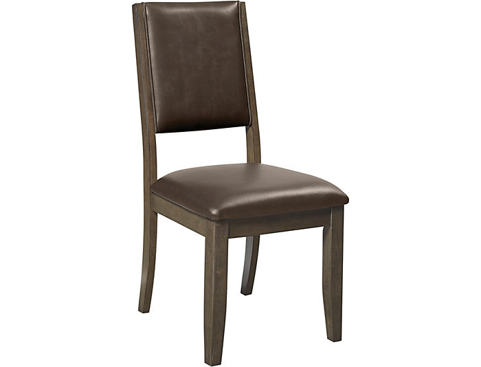 Cafe Upholstered Side Chair, Brown, , large