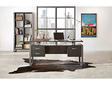 "Mar Vista 64"" Charcoal Desk, , large"