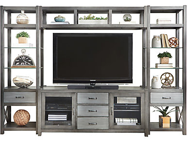 "Alumina Deep Charcoal Wall with 66"" TV Stand, , large"