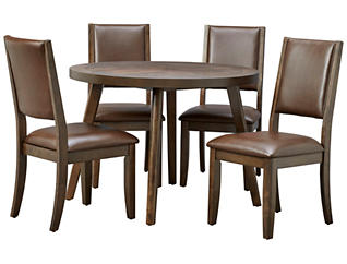 Cafe Table and 4 Brown Chairs, , large