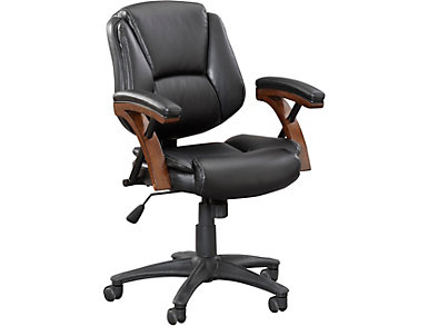 Zeta Black Desk Chair, , large