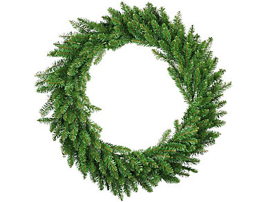"48"" Unlit Eastern Pine Artificial Wreath, , large"