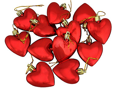 """Red Heart Shatterproof 2"""" Ornaments - Set of 12, , large"""