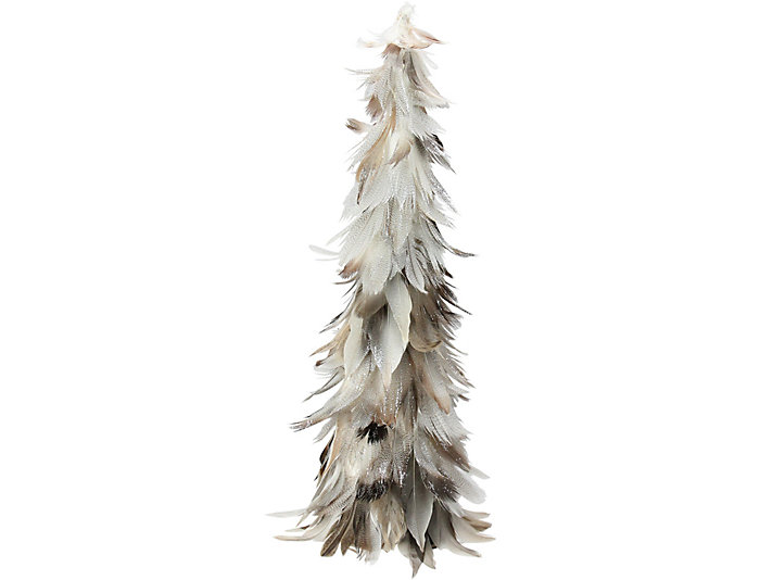 """16"""" Light Brown Feather Tree, , large"""