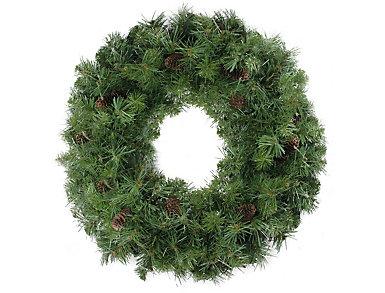 "24"" Unlit Dakota Red Pine Artificial Wreath with Pine Cones, , large"