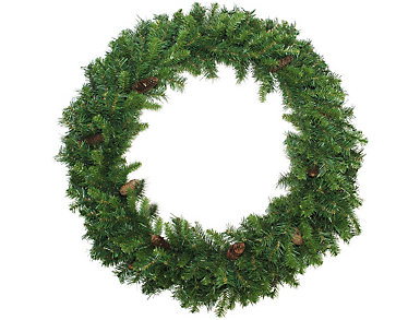 "48"" Unlit Dakota Red Pine Artificial Wreath with Pine        Cones, , large"