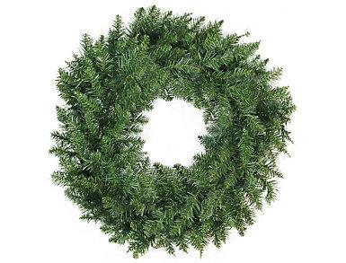 """24"""" Unlit Buffalo Fir Artificial Wreath, , large"""