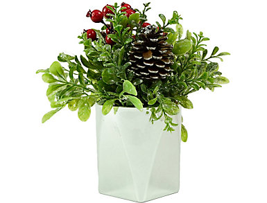 """8"""" Silver Potted Faux Boxwood, , large"""