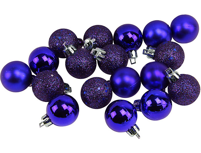 dark blue shatterproof 4 finish 125 bulb ornaments set of