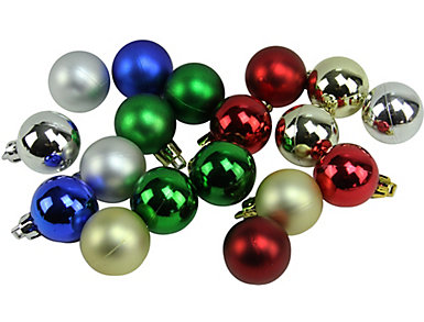 """Traditional Multi-Colored Shatterproof 1.25"""" Bulb            Ornaments - Set of 18, , large"""