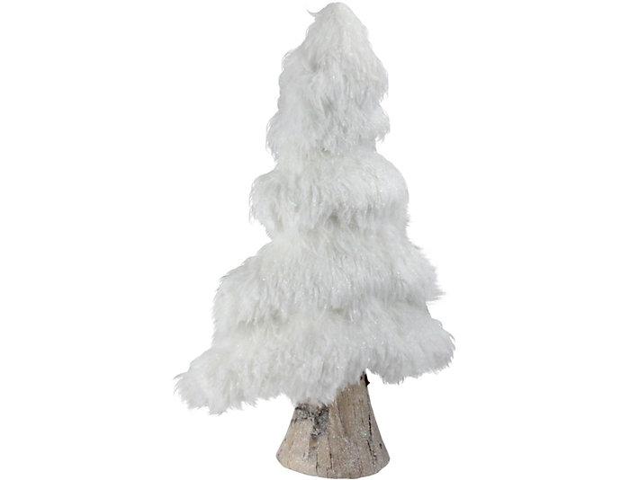 "17"" White Faux Fur Tree, , large"