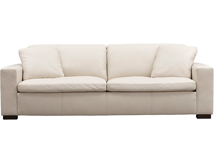 Genuine Leather Zane Sofa Cream Large