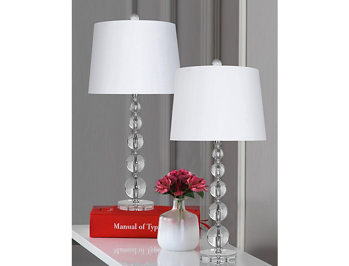 Pair of Crystal Table Lamps, , large