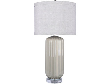 Agate Grey Crackle Table Lamp, , large